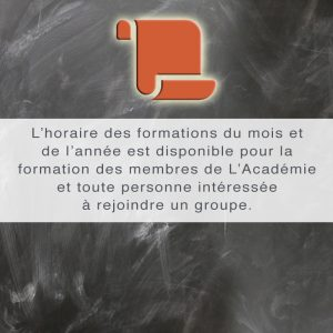 Cours, formations et ateliers